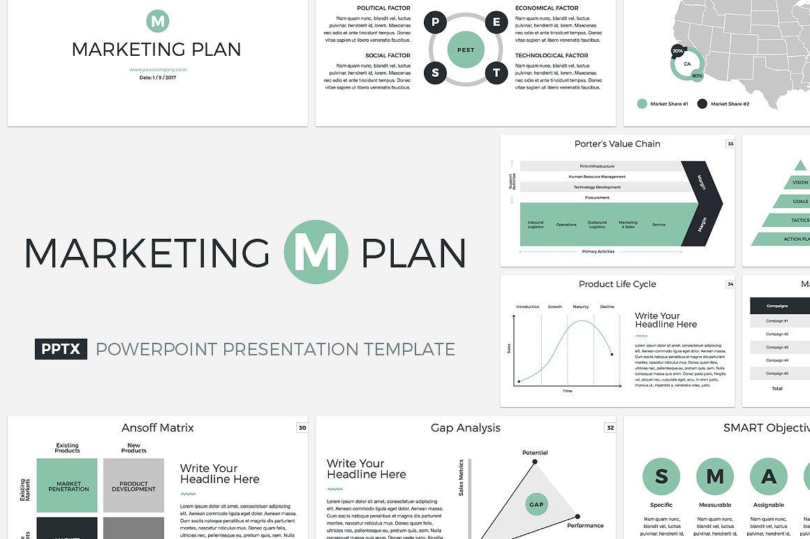 19 - Marketing Plan PowerPoint Template