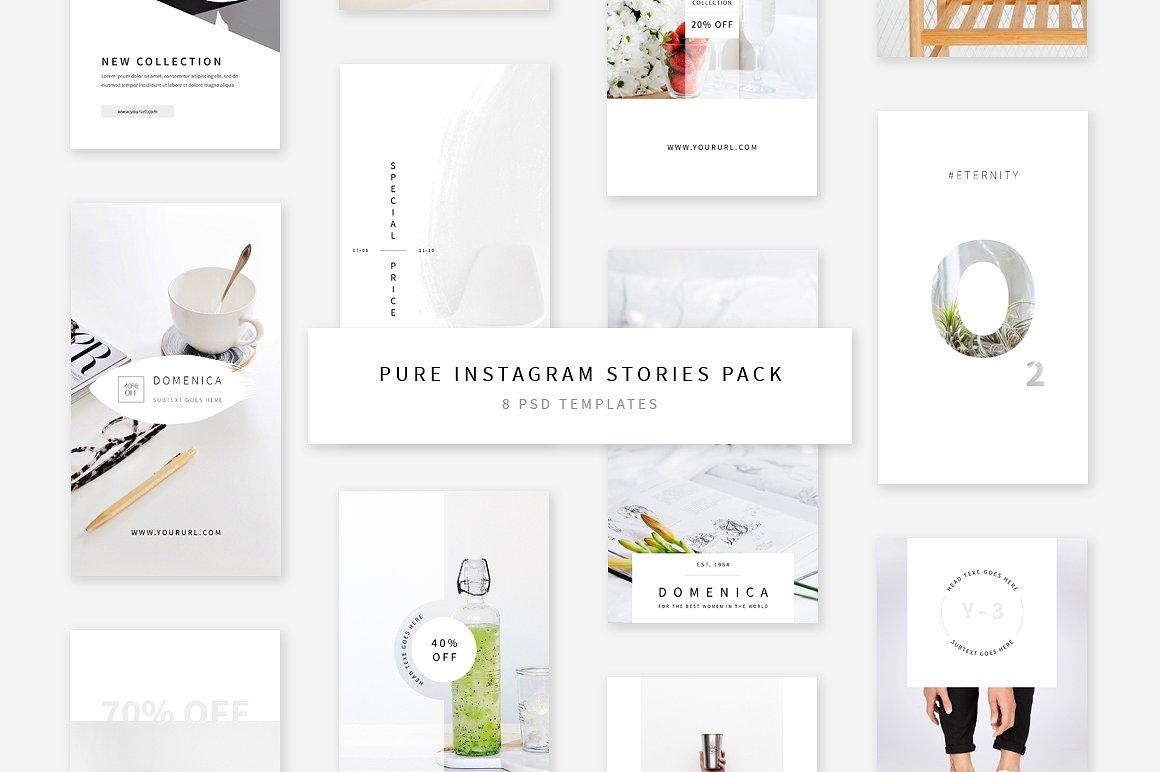 55. Pure Instagram Stories Pack