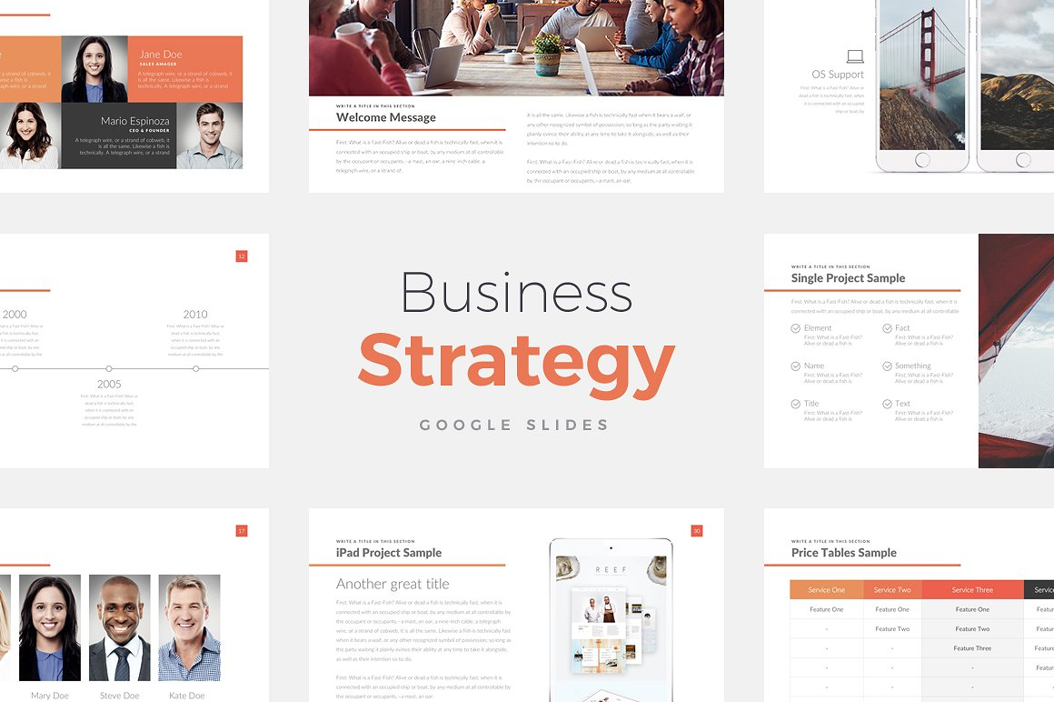 Business Strategy Google Slides Template 1
