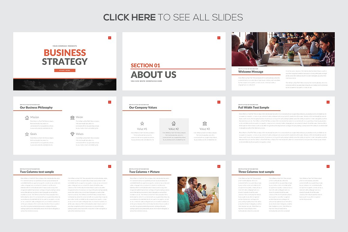 Business Strategy Google Slides Template 2