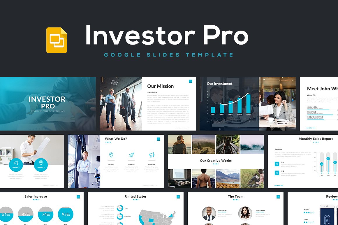 Investor Pro Google Slides Template 1