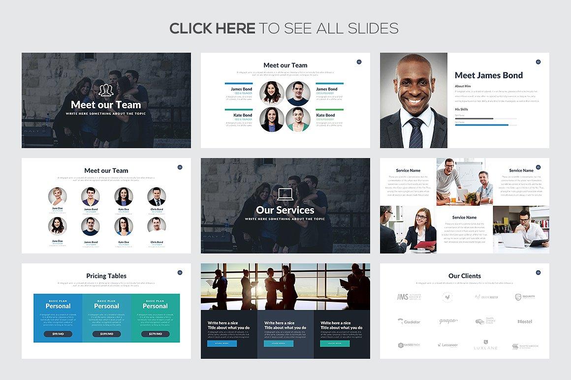 Marketing Pitch Deck Google Slides Template 3
