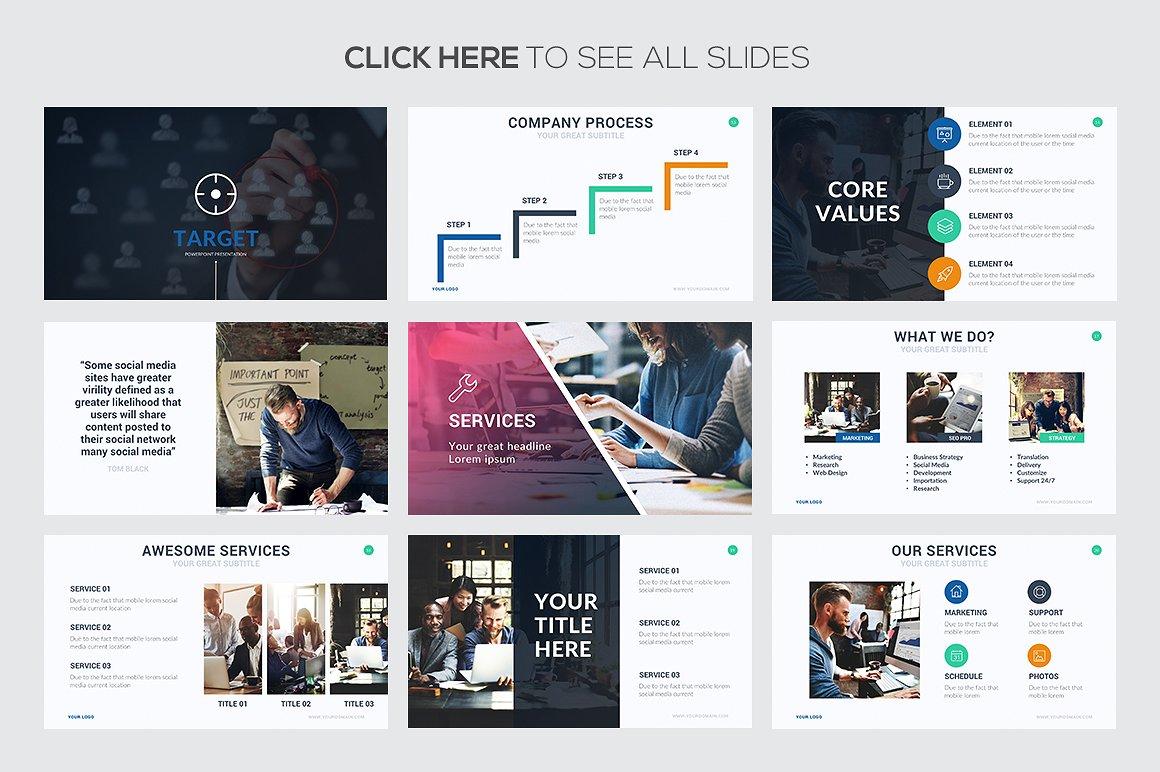 Target Google Slides Template 3