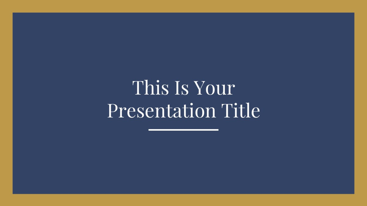 1 - Free Elegant Presentation Template for Google Slides