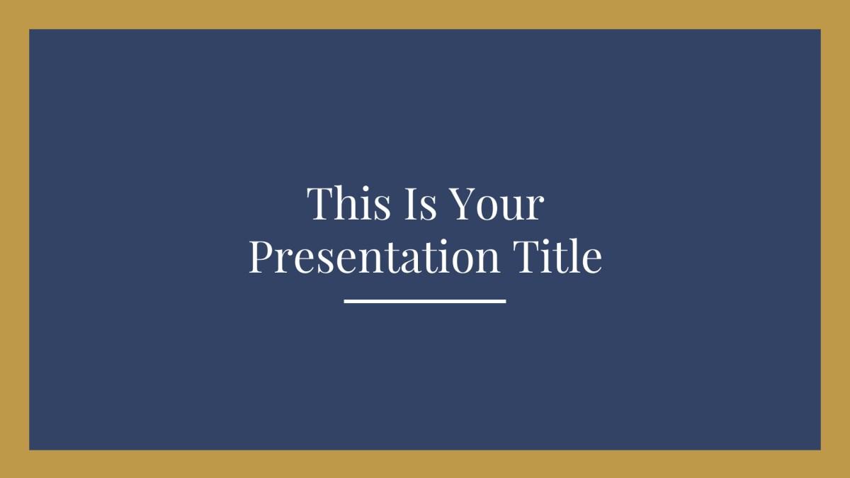1 - Free Elegant Presentation Template for Google Slides