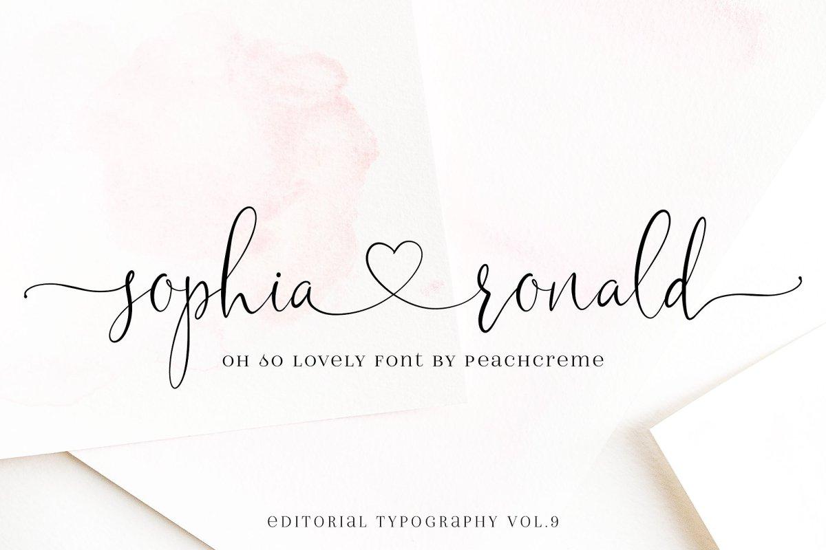11. Sophia Ronald Lovely Script Font