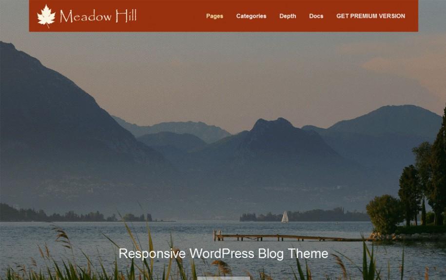 12 - MeadowHill Free Portfolio WordPress Theme