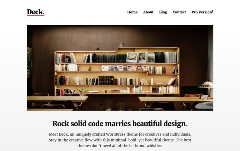 15 - Deck Responsive WordPress Theme