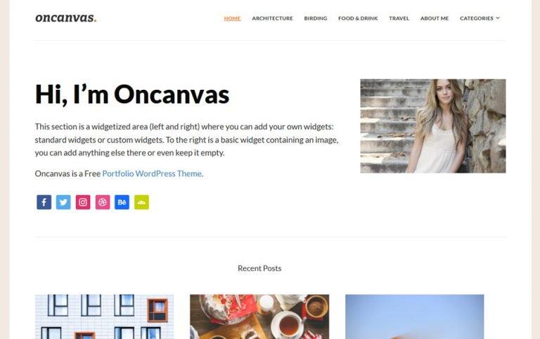 2 - Oncavas Responsive WordPress Theme
