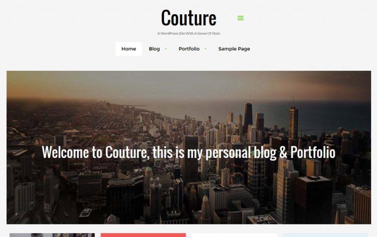 22 - Couture Responsive WordPress Theme