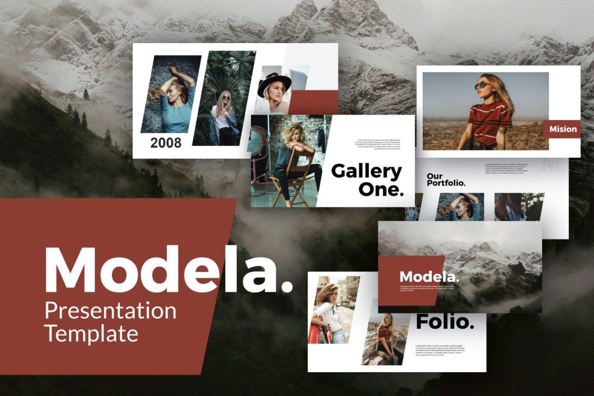 22 - Modela Free Presentation Template