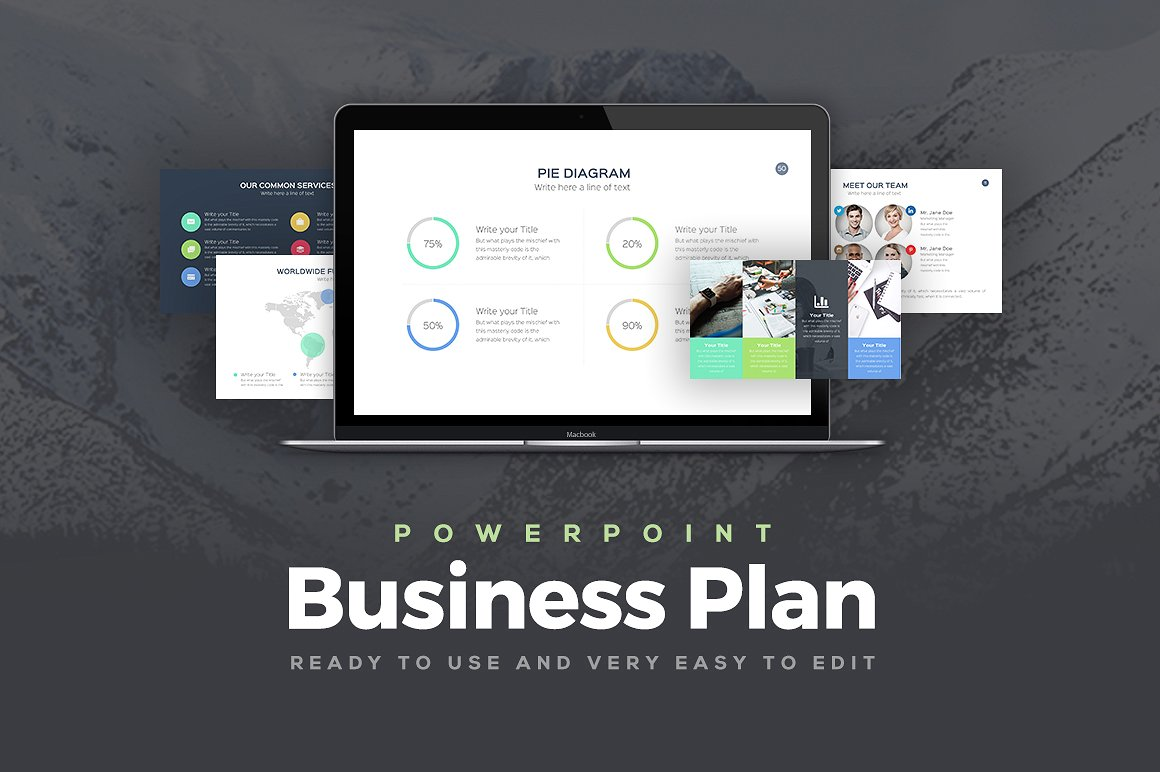 25 great business plan powerpoint templates 2018 business plan powerpoint template wajeb Choice Image