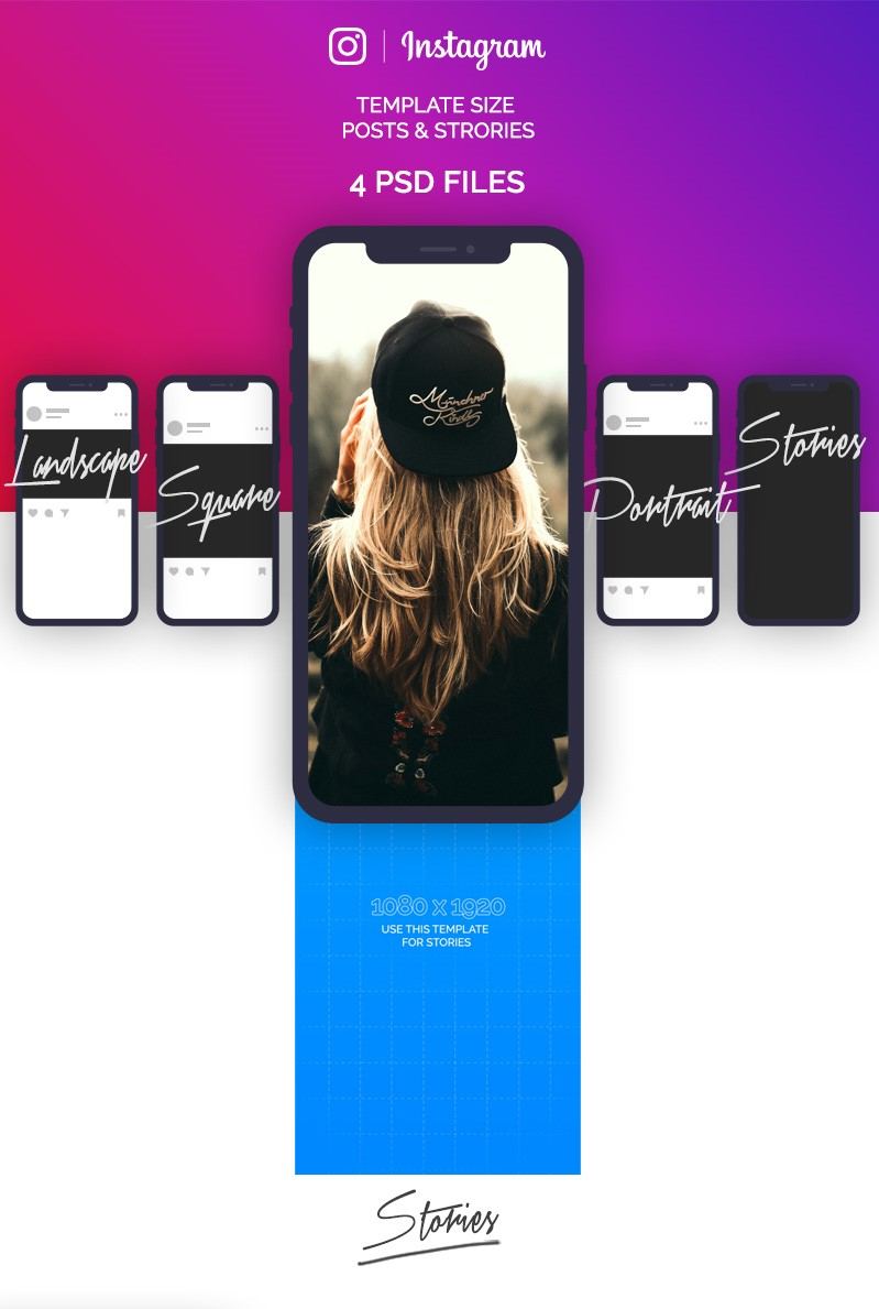 22. Free Instagram Image Sizes & Dimensions Template PSD