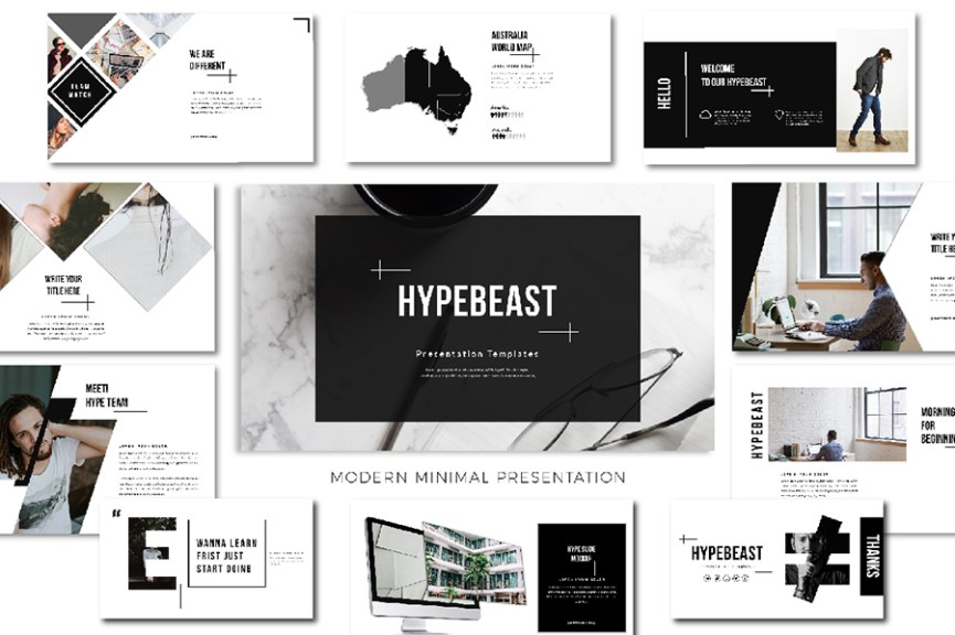 24 - Hypebeast Free Presentation Template