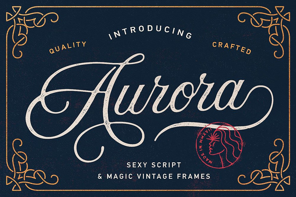 25. Aurora Script + Frames