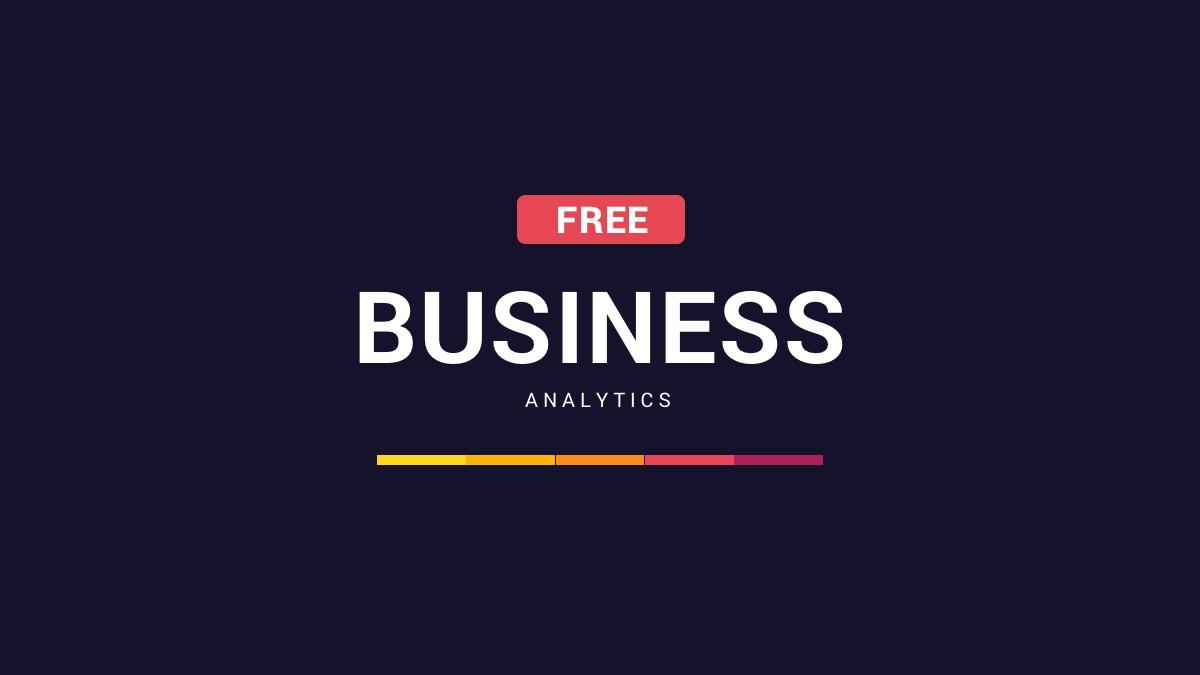 25. Free Business Analytics Google Slides
