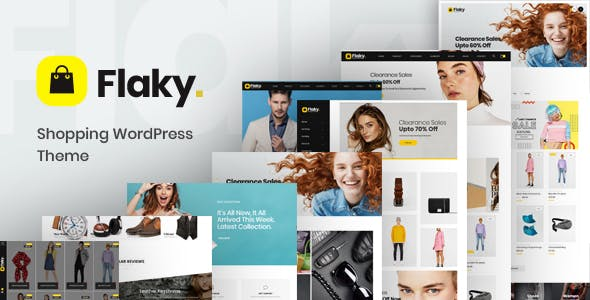 27 - Flaky - A Responsive WooCommerce Theme for Online Shopping Websites