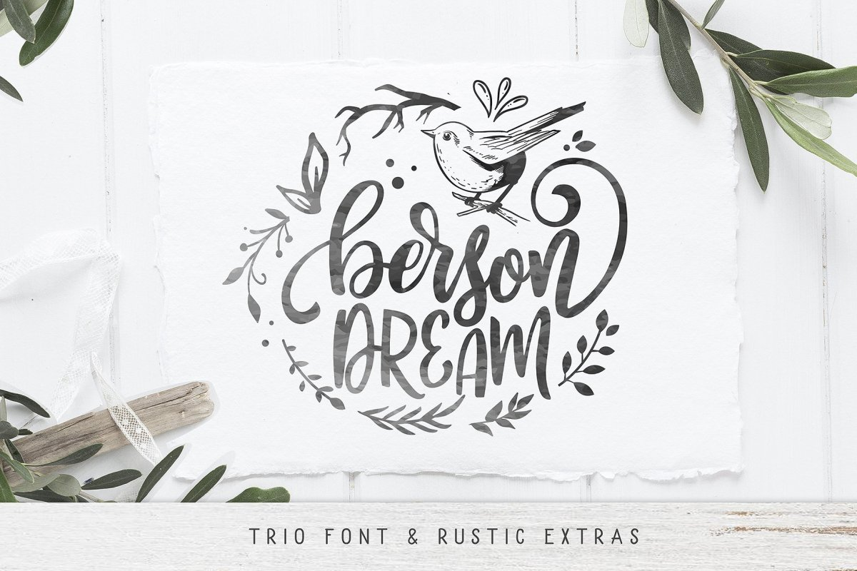 31. Berson Dream Font TRIO and extras