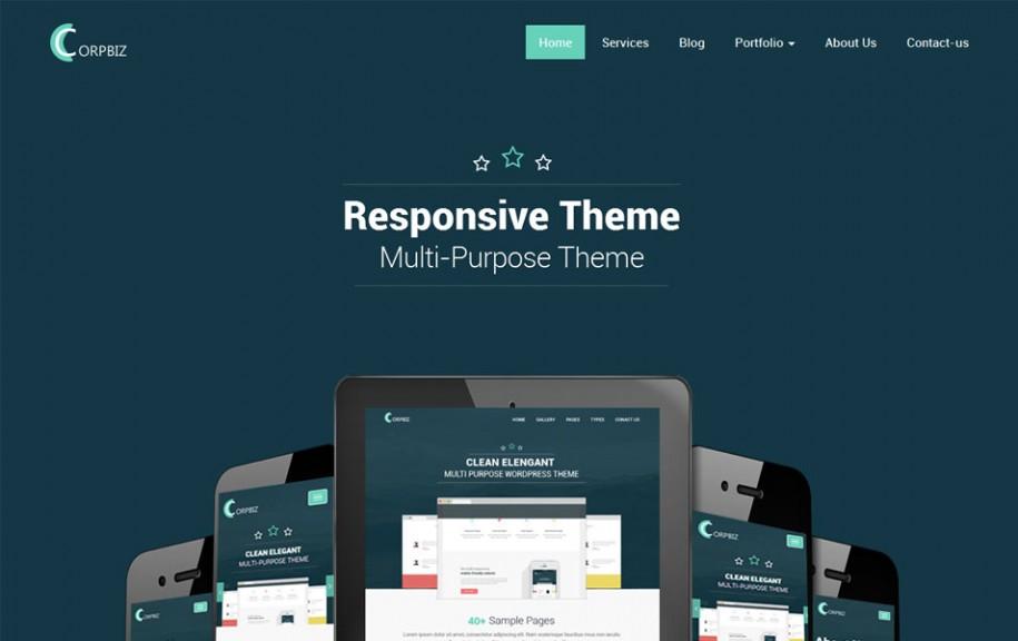 33 - Corpbiz Free Portfolio WordPress Theme