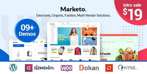33 - Marketo - ECommerce & Multivendor A WooCommerce WordPress Theme