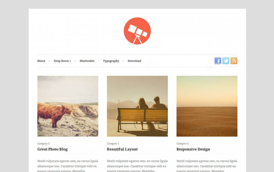 39 - Photo Free Photography WordPress Theme