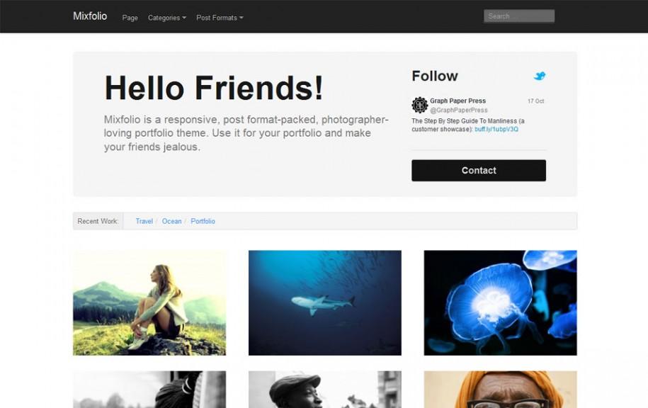44 - Mixfolio Free Portfolio WordPress Theme