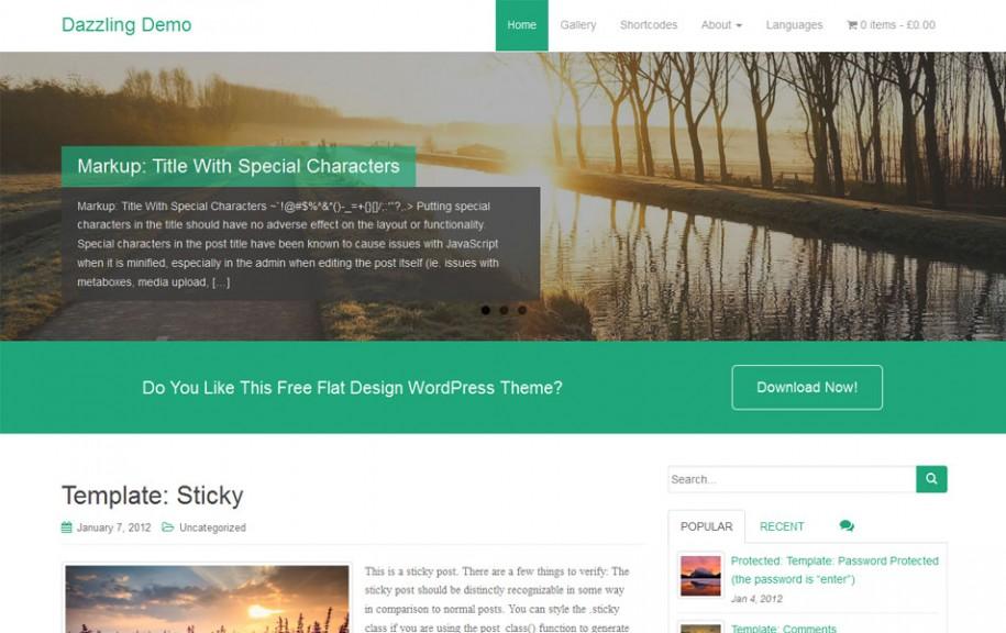 45 - Dazzling Free Portfolio WordPress Theme