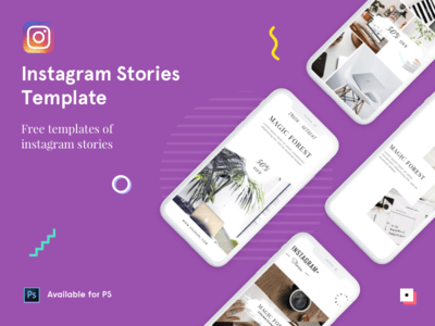 47. Instagram Stories Template for Photoshop