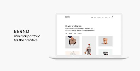 5 - Bernd - Minimal WordPress Portfolio Theme