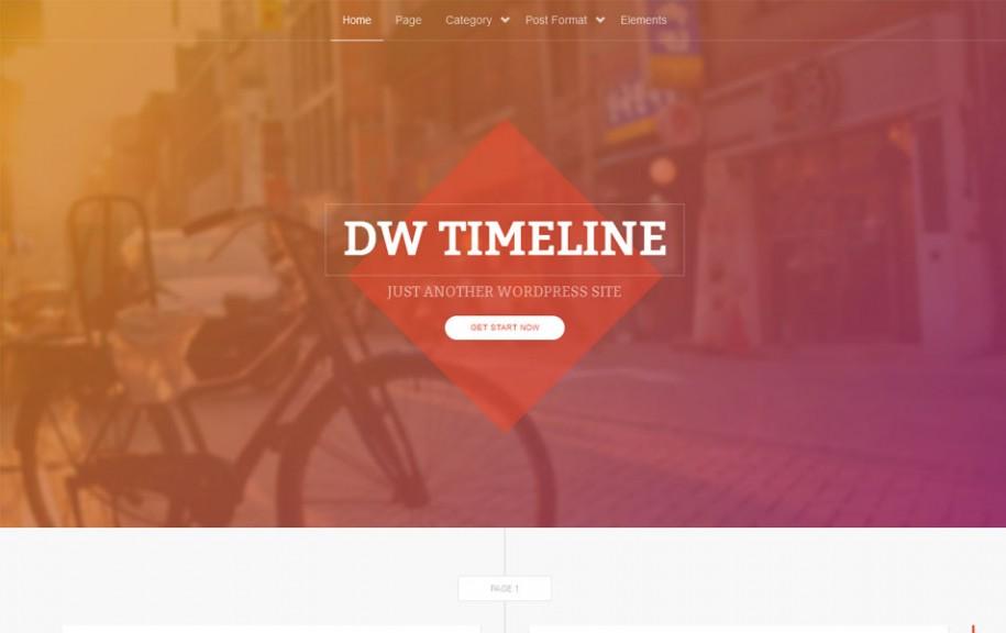 52 - DW Timeline Free Portfolio WordPress Theme