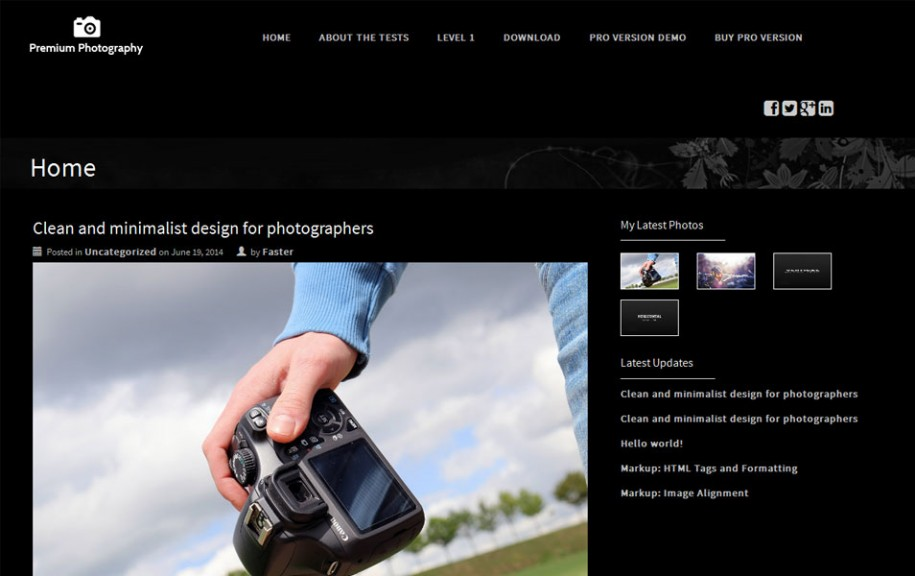 56 - Premium Photography Free Porfolio WordPress Theme