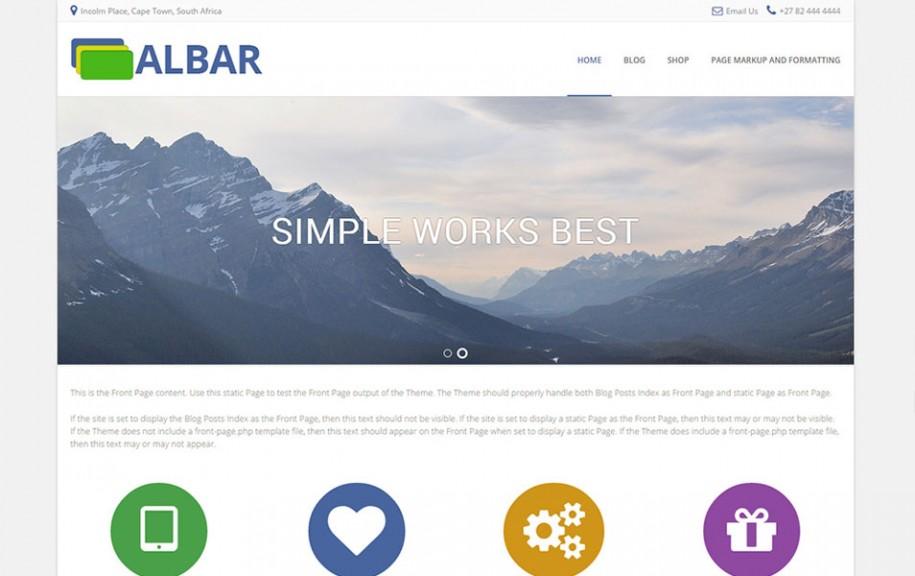 6 - Albar Free Portfolio WordPress Theme