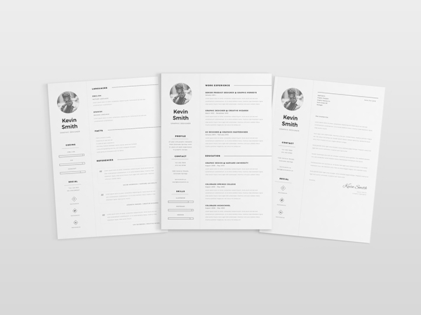 6 - Free Clean and Minimal Resume Template