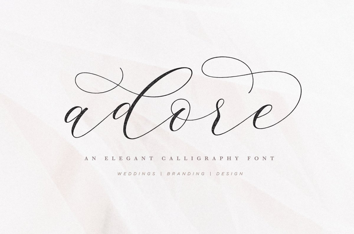 6. Adore Calligraphy Font