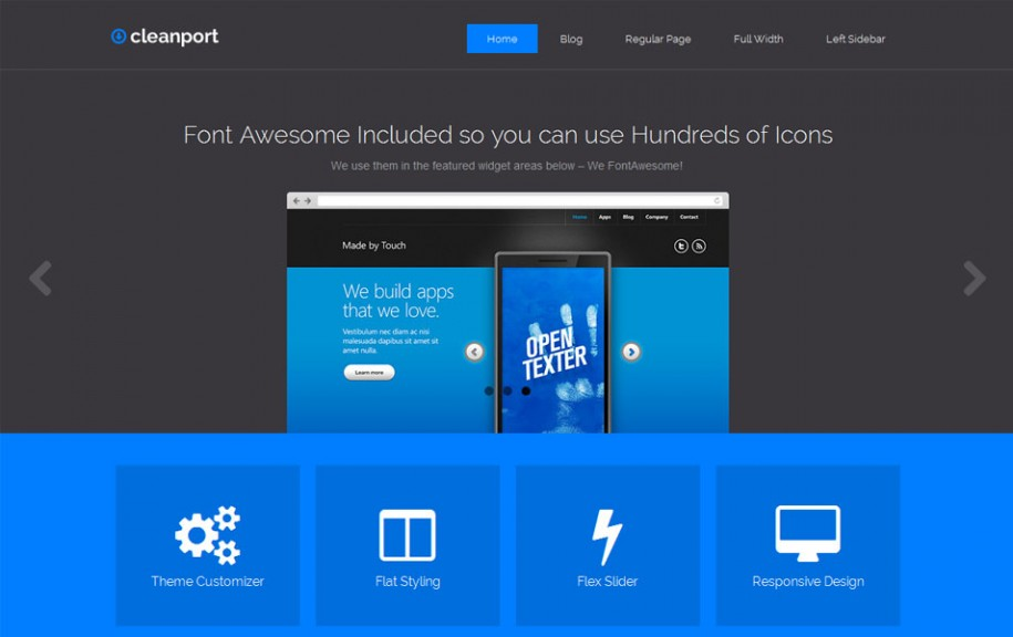 61 - CleanPort-Lite Free Portfolio WordPress Theme