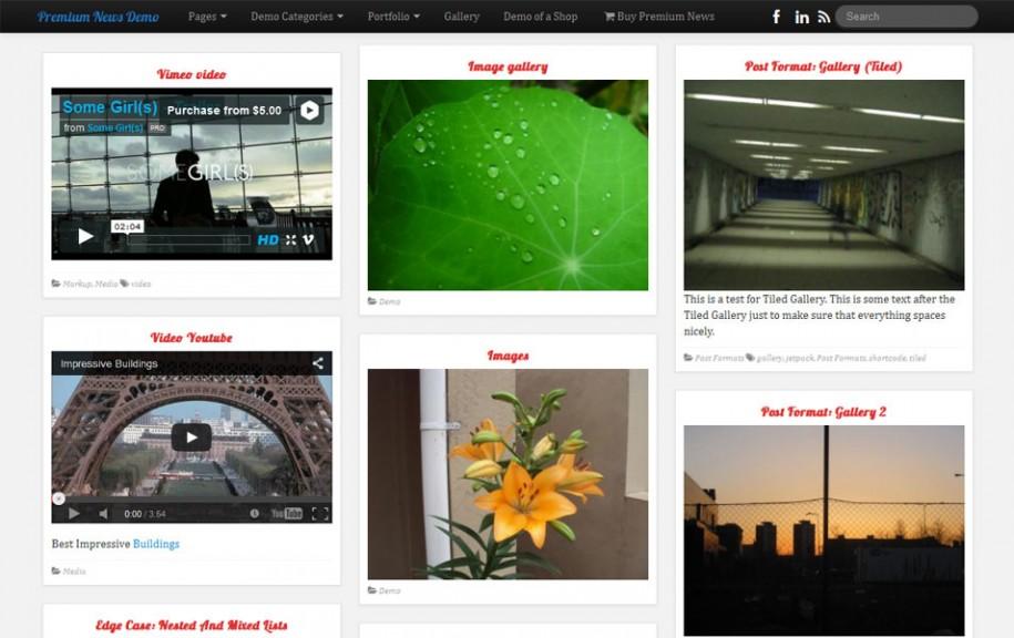 75 - PR News Free Portfolio WordPress Theme