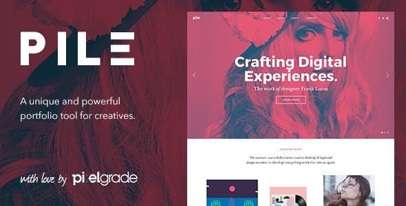 8 - PILE - An Unconventinal WordPress Portfolio Theme