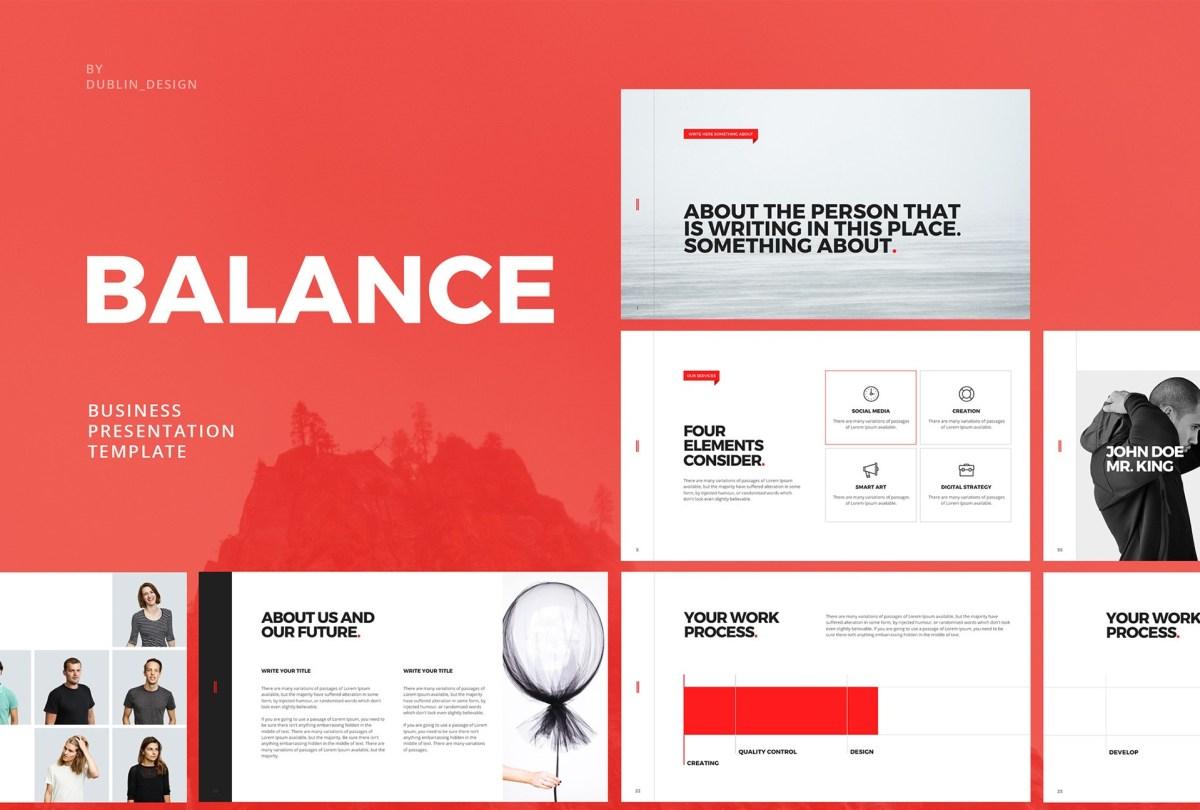 Balance Free Minimal PowerPoint Template