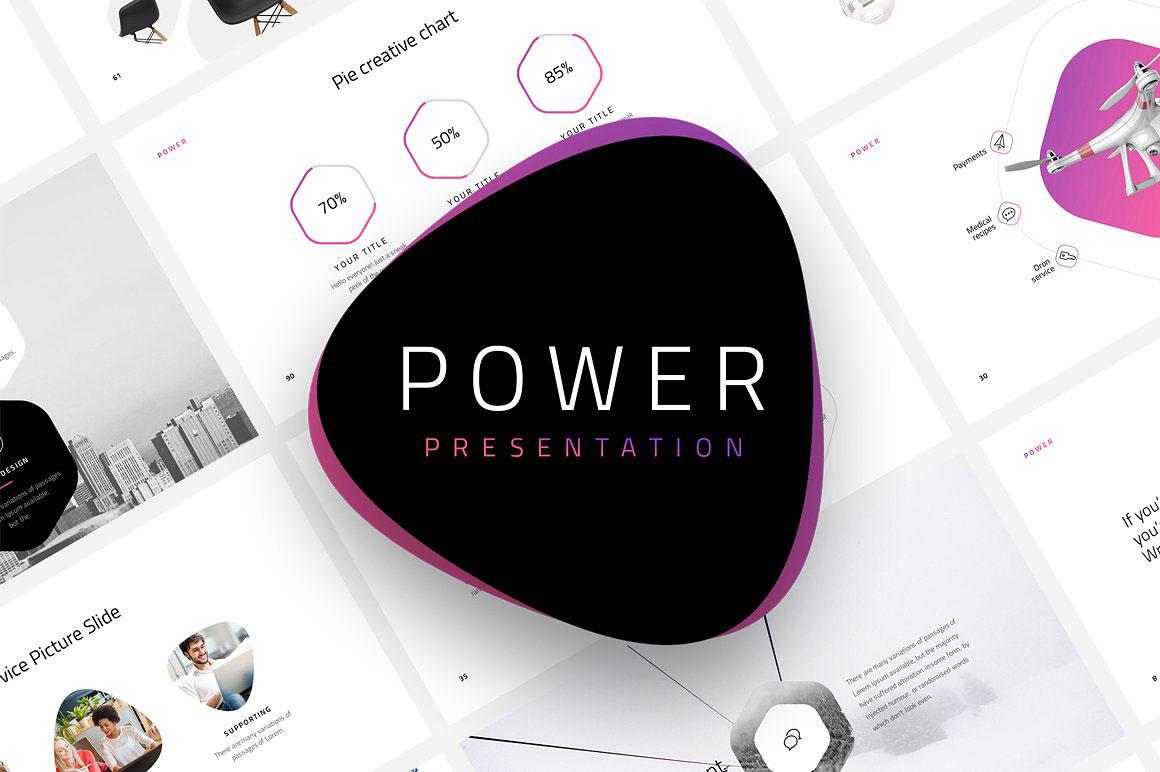 Power Free Minimal PowerPoint Template