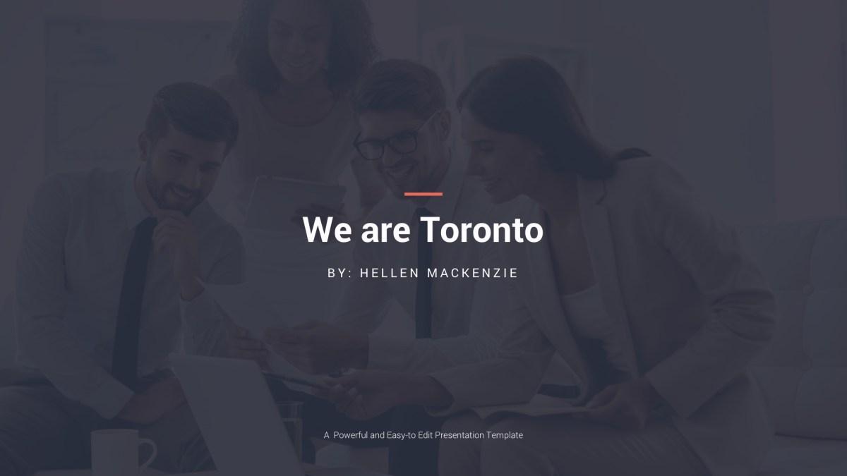 - Toronto Presentation Template