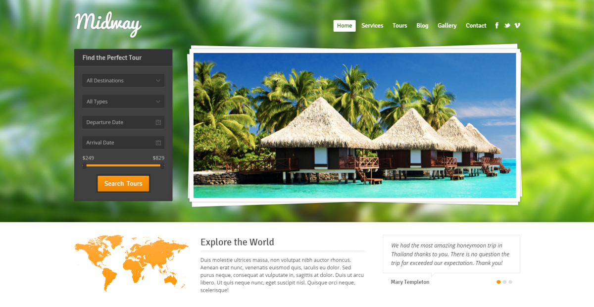 13. Midway - Responsive Travel WP Theme