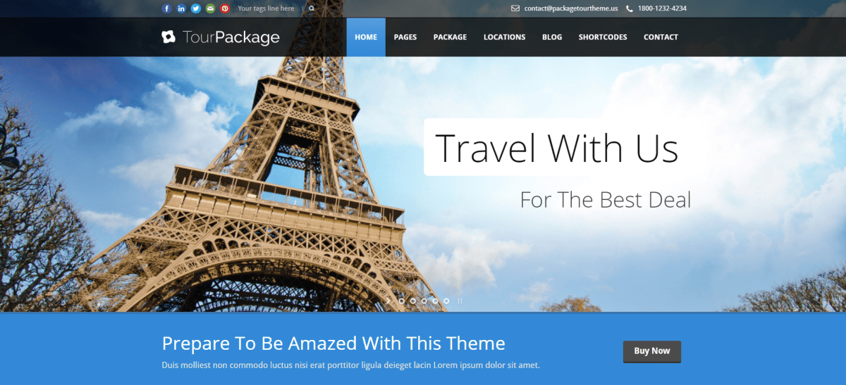 41. Tour Package - WordPress TravelTour Theme