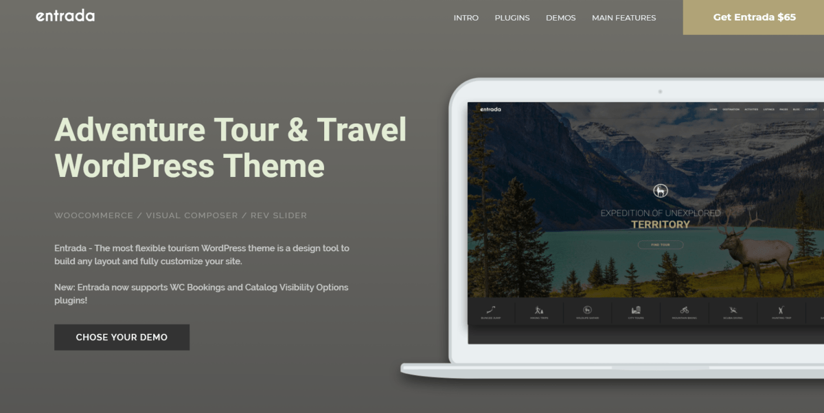44. Tour Booking - Tour Adventure WordPress Theme - Entrada