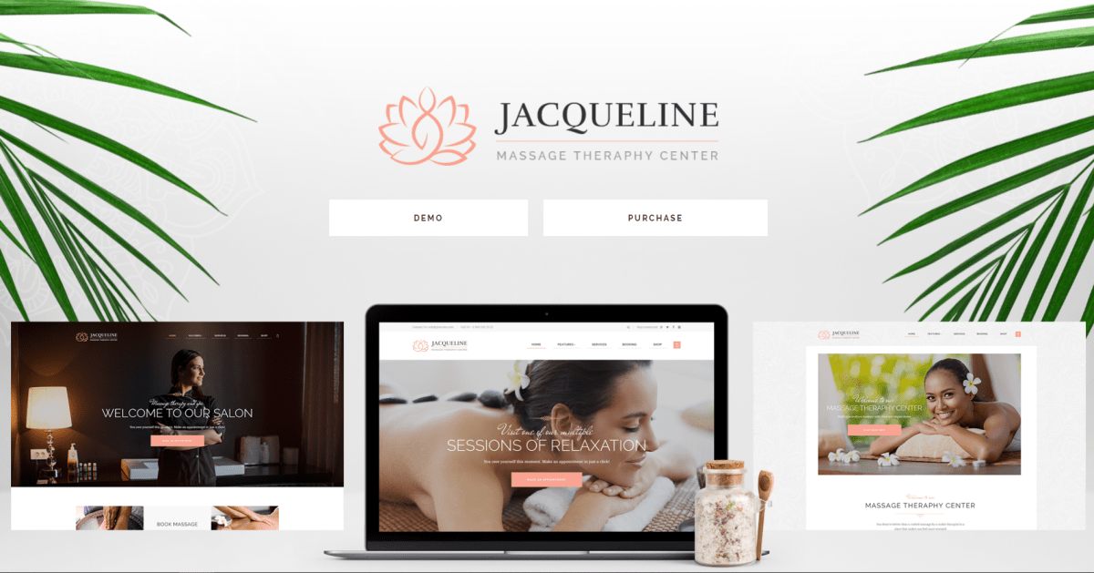 8. Jacqueline Spa & Massage Salon WordPress Theme