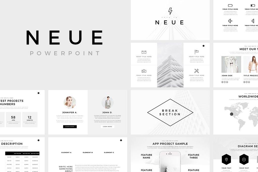 Neue Free Minimal Powerpoint By Slideforest