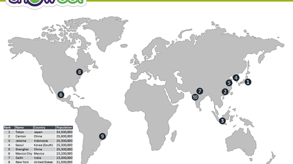 World Map for PowerPoint