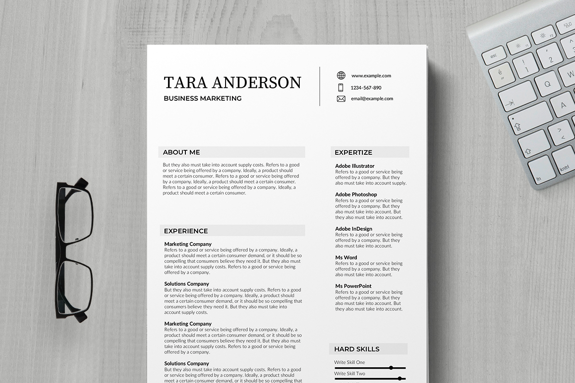 Resume Template Adobe Illustrator 41