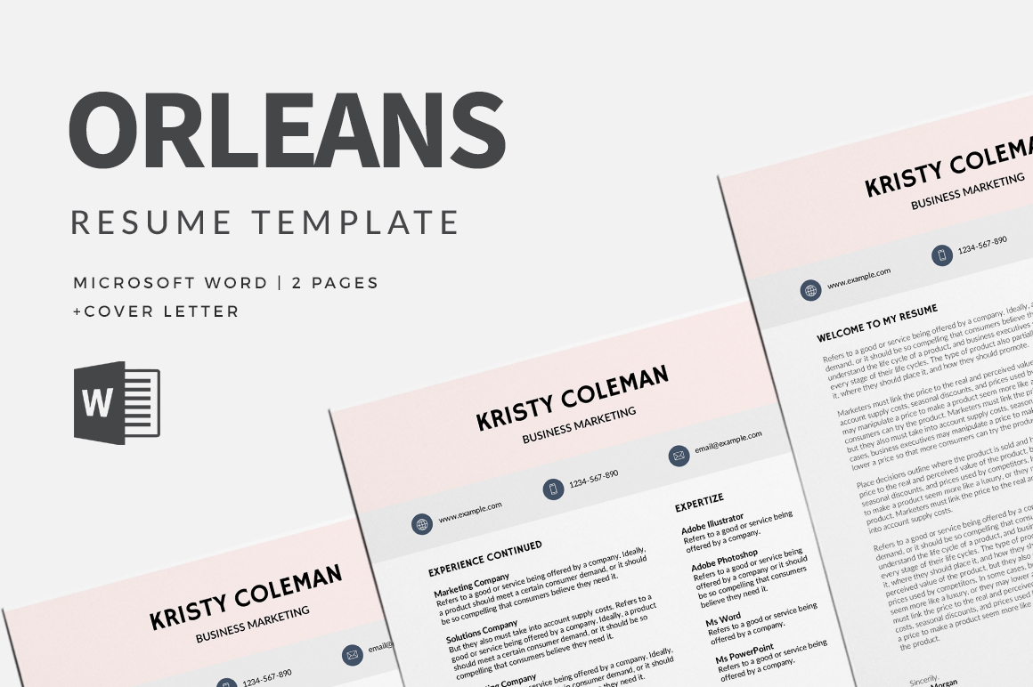 The Free Three Page Resume Allows You To Get All Your Qualities And Achievements In One Single But Still Makes It Look Clean 100 Professional