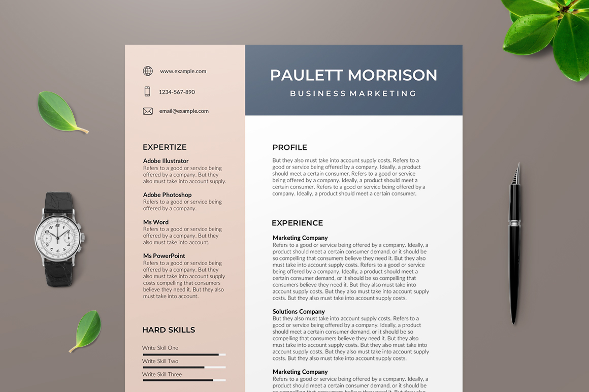 Resume Template Adobe Illustrator 88