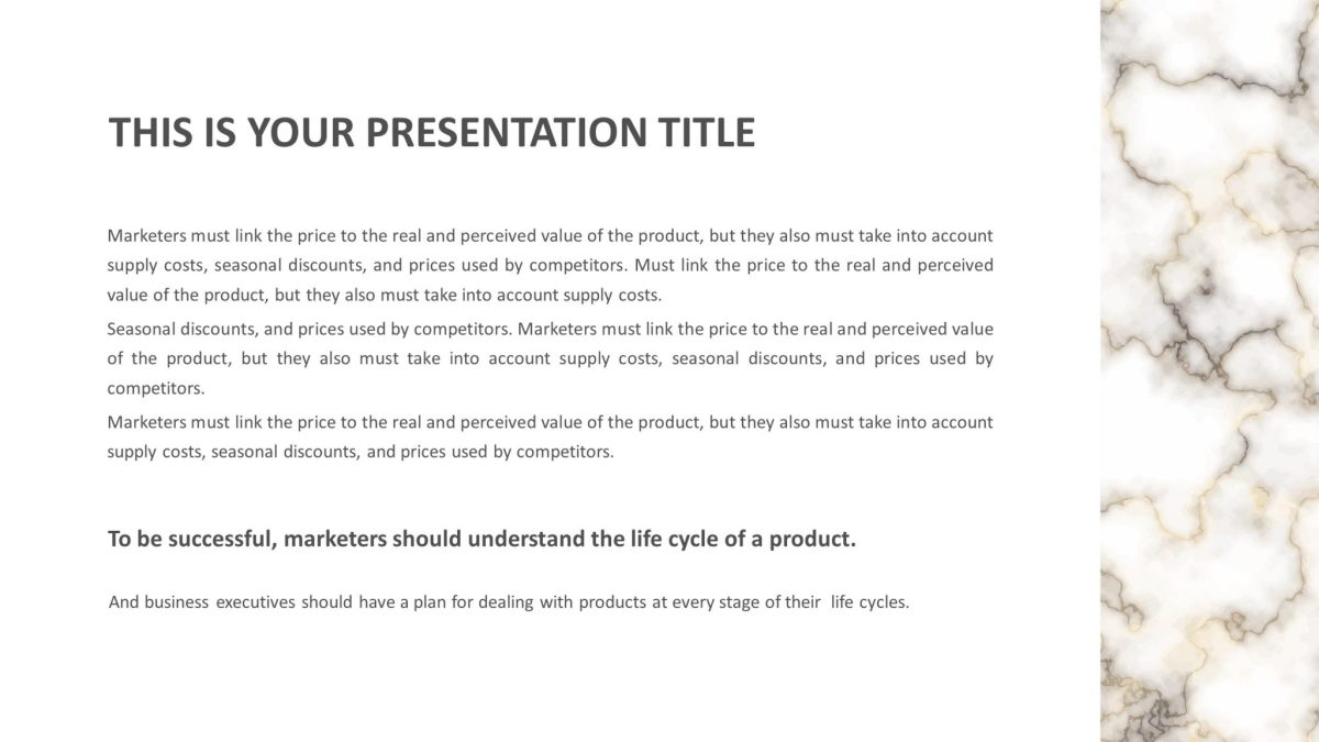 Elegant Free Presentation Template